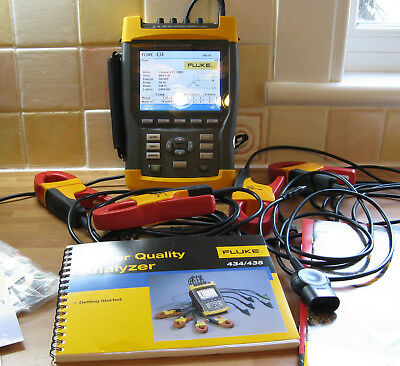 Fluke 434 Three Phase Power Quality Analyzer Meter Kit
