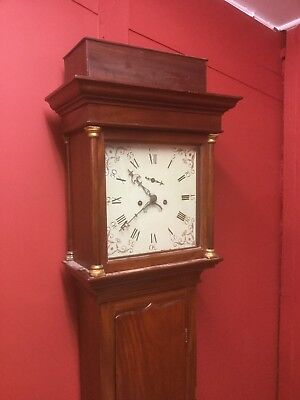 Antique Mahogany Longcase Clock By Francis Capon Taunton Bridgewater C 1790