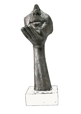 Abstract Art Deco. S.dali Cold Cast Bronze Sculpture Marble Base Modern Figurine