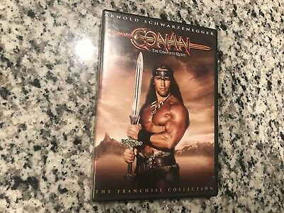 Conan: The Complete Quest Dvd No Scratches The Barbarian & The Destroyer Arnold!