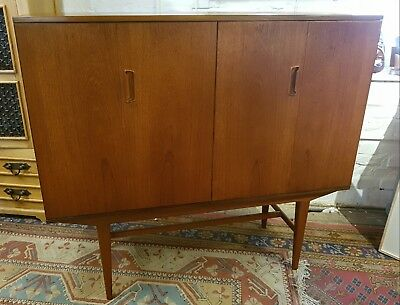 Mid Century Alfred Cox Teak Drinks Cabinet Highboard