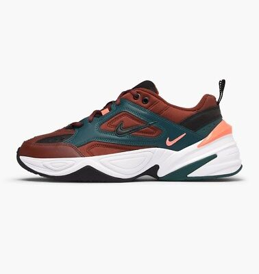 e589b58a94aa NIKE MENS M2K Tekno Sail Habanero Red Daddy Shoes Chunky Sneakers ...