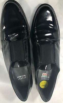 f87412e2c3305b Stuart Weitzman Mens Black Patent Leather The Band Slip-On Loafer Sz 7.5 (s7