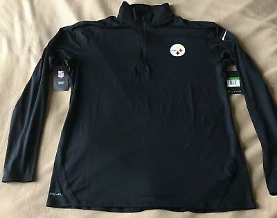 122968b95 NWT Pittsburgh Steelers Nike Element 1 4 Zip Pullover Size XL