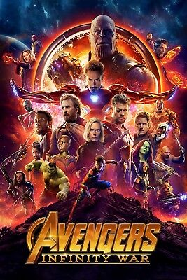 Avengers Infinity War V2 Movie Poster 61 X 91 Cm ( 24X36 Inch) Laminated