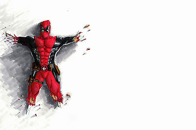 Deadpool on the wall movie FANTASY POSTER 61 X 91 CM ( 24X36 INCH)