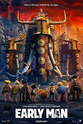 Early Man Movie Poster 61 X 91 Cm ( 24X36 Inch) Laminated