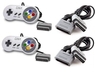 Super Nintendo SNES SFC - 2 Controllers with Extensions Set