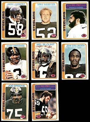 d0ae820d0e6 1978 TOPPS PITTSBURGH Steelers Team Set EX+ - $140.00 | PicClick