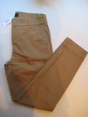 Nwt~ J Crew Skinny Slim Cropped Ankle Chinos In Khaki Color~ Size 2 (Inseam 26)