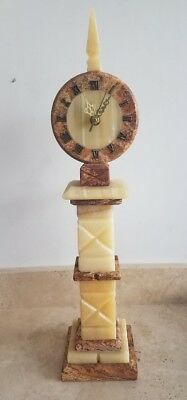 Art Deco Marble and Onyx Clock (Vintage Style)