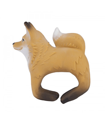 Oli & Carol - Rob the fox bracelet - Natural Rubber Toy -  teething