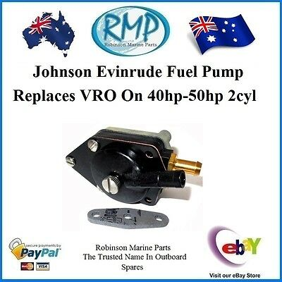 Johnson Evinrude VRO Replacement Fuel Pump 40hp-50hp 1989-2005 # R 433387