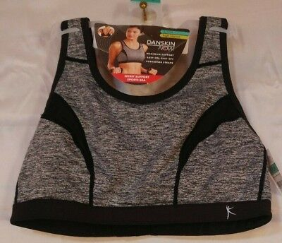 e65dd78af1 Danskin Now Secret Support Sports Bra Small High Impact Gray With Black Trim