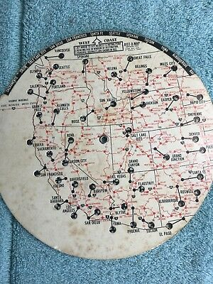 VINTAGE 1964 DIST-O-MAP Continental Usa Mileage Counter ...