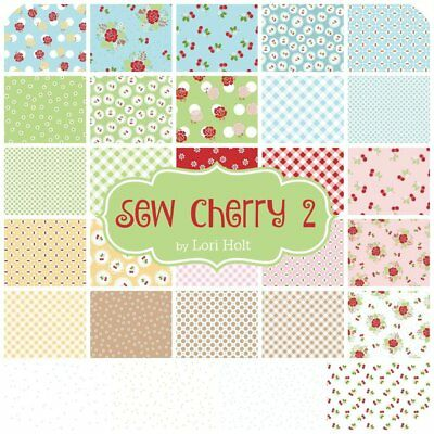 Quilting Fabric  Jolly Bar = Double Charm Or Half Layer Cake X 42 Sew Cherry Ii