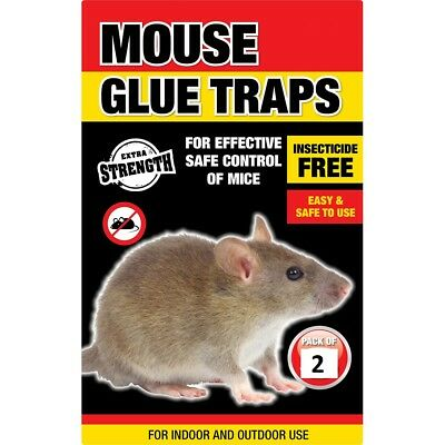 2 x Mouse Rat Glue Trap Baited Poison Free Non Toxic Super Strong Sticky