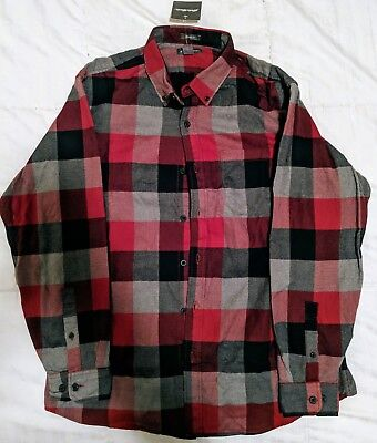 969a90d49be1 NEW Eddie Bauer Men s Eddie s Favorite Flannel Relaxed Fit Plaid Shirt ...