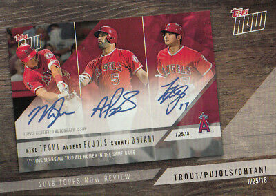 Trout/Pujols/Ohtani 2019 Topps Series 1 Topps Now Review Card #TN-9