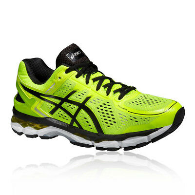 fe01aa506d810f ASICS Gel-Kayano 22 Mens Green Support Running Sports Shoes Trainers Pumps