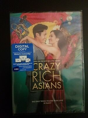 Crazy Rich Asians DVD (2018) - Brand New!  Sealed! Free shipping in the USA