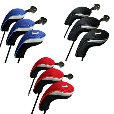 Golf Club Head Covers 3Pack - 1,3&5 Wood Driver Head Covers Set Replacement