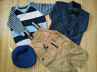 Nice 4X WINTER 100%NEXT BUNDLE OUTFITS BABY BOY 12/18 MTHS JUMPER TROUSERS(0.4