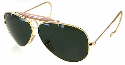 06856034dd Ray Ban 3138 62 Shooter Gold Gold Auction Racoon Remix 58 G15 Green  Polarized