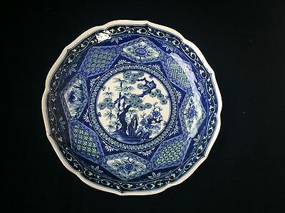 antique very old japanese plate  / charger with beautiful design. Marked Bottom