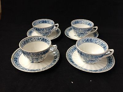 antique chinese porcelain 4 cups and saucers . Marked