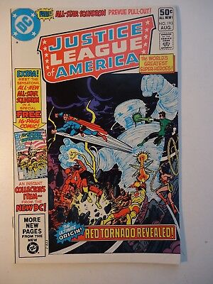 JUSTICE LEAGUE OF AMERICA #193 Perez art + 1st All-Star Squadron /1981 VFn (JLA)