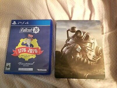 Fallout 76 Playstation 4 with Steelbook case, read description , NO DLC
