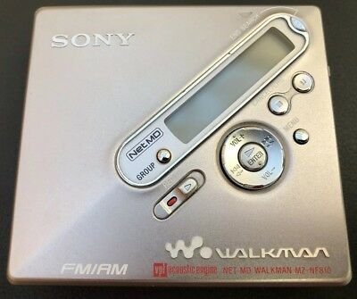 Sony Net MD MZ-NF810 Personal MiniDisc Player With Radio, Remote & Power Supply
