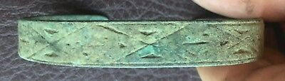 Authentic Ancient Lake Ladoga VIKING Artifact > Bronze Bracelet  VV 39-C