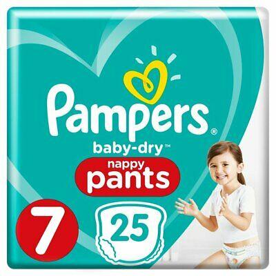 Pampers Premium Protection Baby Dry Nappy Nappies Size 7  25 nappies 17+ kg