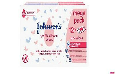 Johnson's Baby Extra Sensitive Wipes, 12 x 56 Per Pack****FREE SHIPPING***