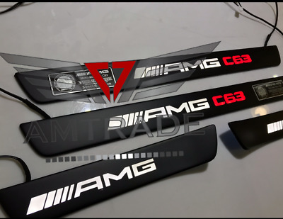Mercedes Benz C Class W204 C63 Style AMG Led Illuminated Door Sills Panels