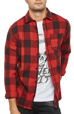 JACK & JONES Originals Long Sleeve Shirt Mens Slim Fit Casual Check Smart Shirts