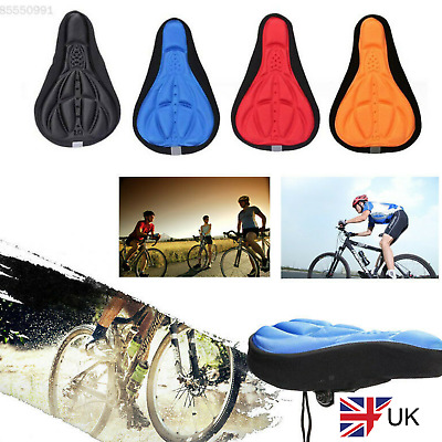 3D GEL Silicone Bike Bicycle Extra Comfort Saddle Seat Pad Cushion Cover UK New