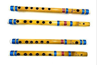 "Beginners To Professional Indian Bamboo Flute 10"" & 11"" Transverse Fipple"
