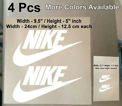4 Pcs Nike Iron On Heat Press Nike Poly Flex Patch Sports