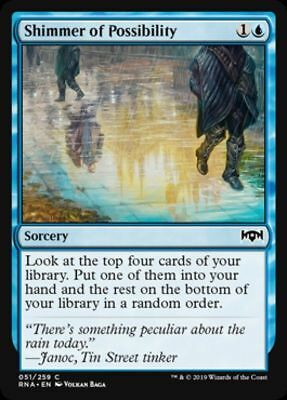 MTG 4 Shimmer of Possibility Ravnica Allegiance Playset x4 NM Magic FAST SHIP 4x