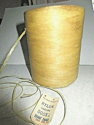 "Roll Of Waxed Nylon Lacing From ""The Linen Thread Co."" = Right Twist ="