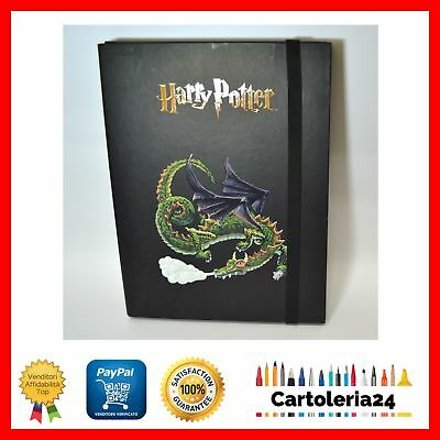 Carpetta Con Elastico Harry Potter Nero Portadocumenti Drago Offerta New ¨