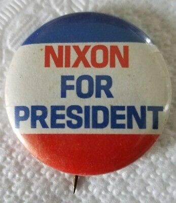Nixon For President Political Button Campaign Richard M Nixon  Size 1 1/4 Inch