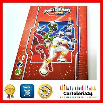 Carpetta Con Elastico Power Ranger Spd Scuola Offerta New ¨