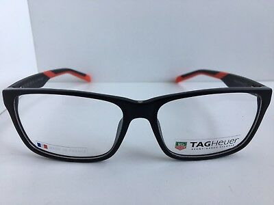 0c4f61aaafd New TAG Heuer TH 552 005 59mm Black Red Men s Eyeglasses Frame France
