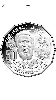 Uncirculated  2017 Mabo 50 Cent Coin Taken From RAM Mint Bag. Free Delivery