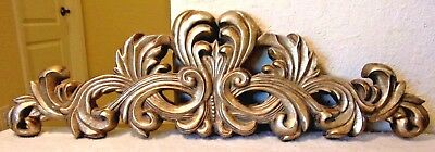 Shabby Beautiful French Scroll Pediment Header Great Over A Doorway Or Mirror