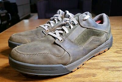 differently d13b7 4763d Merrell Mens Dusty Olive Leather Suade Athletic Casual Running Shoes Size 14